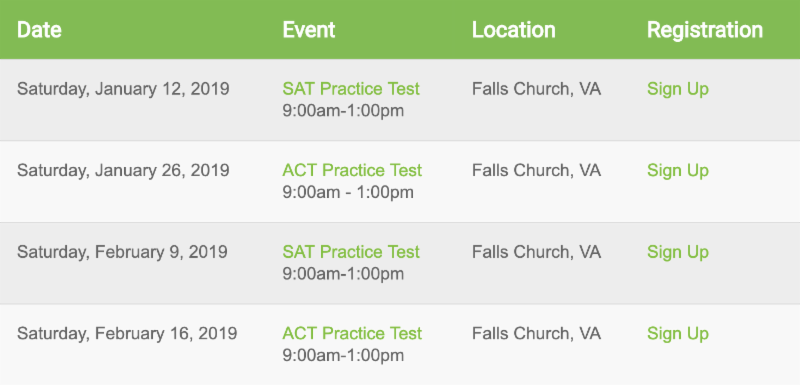 Test Prep Timeline: January 2019 - Educational Connections