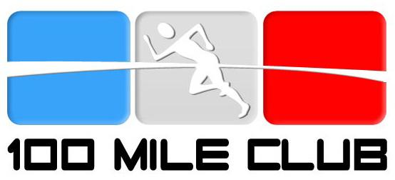 100 Mile Club logo with picture of runner