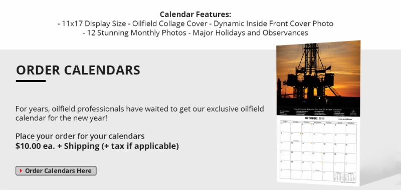 2018 Oilfield Calendar On Sale for 10 Dollars, oil gas graphics, john perez