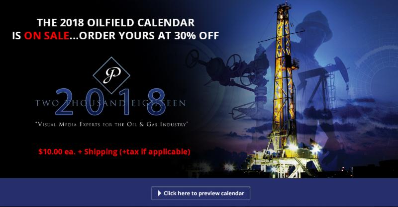 2018 Oilfield Calendar On Sale for 10 Dollars, oilfield graphics, petroleum graphics