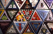 Selection of some of the quilts which make up the International Honor Quilt