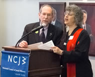 Michael Linver and Rabbi Gaylia Rooks