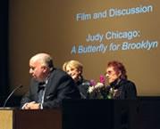 Arnold Lehman, Elizabeth Sackler, and Judy Chicago