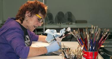Judy Chicago at work in her Belen studio