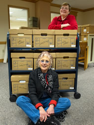 Judy Chicago Art Education Archives, overseen by Jackie Esposito, Special Collections Library