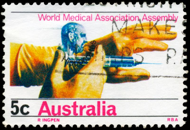Australian Stamp recognizing General Assembly of World Medical Associations (~1968)