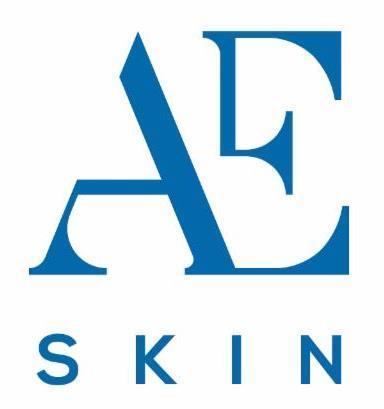 A E Skin logo navy blue