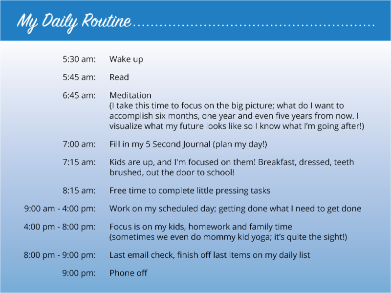 Katies Daily Routine for Maximum Productivity