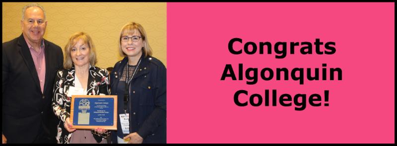Congrats Algonquin College