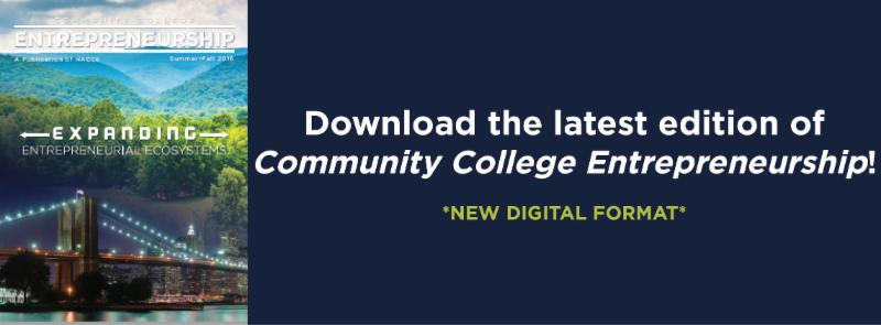 Download the latest edition of Community College Entrepreneurship
