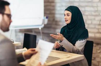 Muslim Woman Interviewing