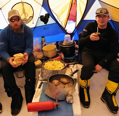 cook tent on Vinson
