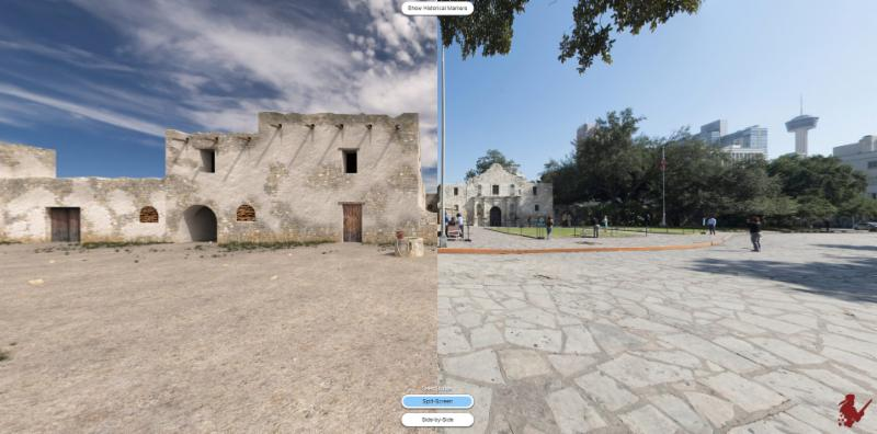The Alamo digital battlefield 360 degree visulization