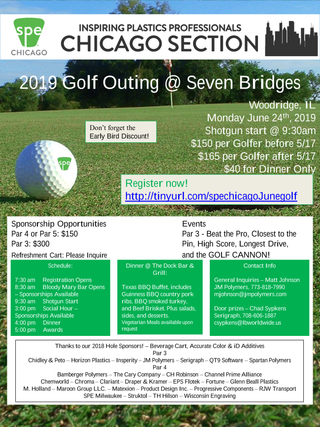 2019 SPE Chicago Golf Outing @ Seven Bridges