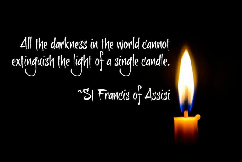 St. Francis Candle Quote
