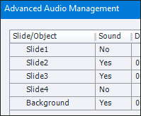 Audio Management