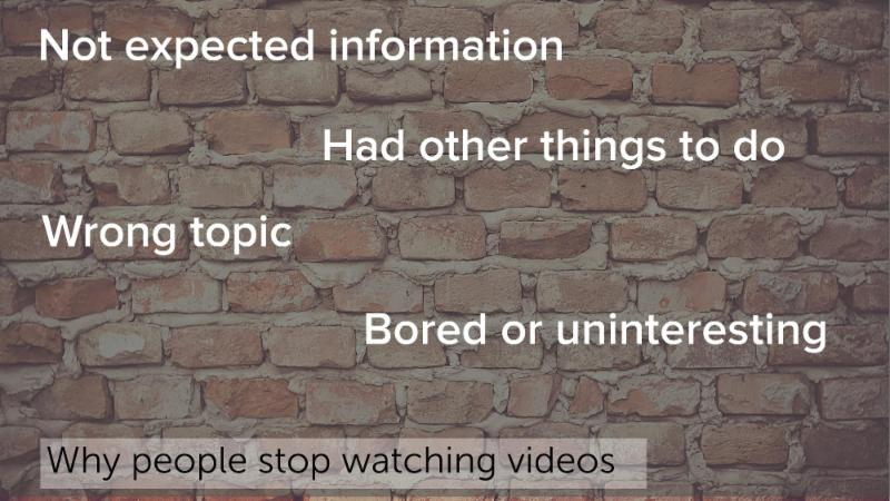 Techsmith: Why people stop watching videos