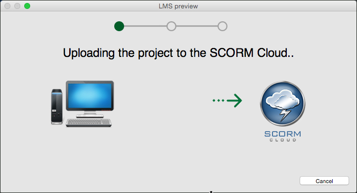 Uploading the SCORM cloud