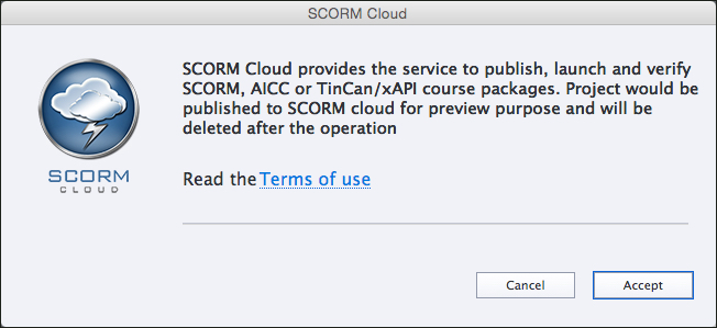 Accept SCORM cloud