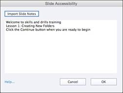 Slide Accessibility