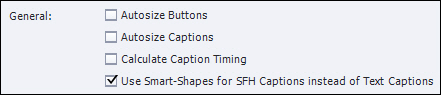 Adobe Captivate: Use Smart-Shapes for SFH Captions.