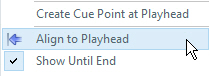 Align to Playhead