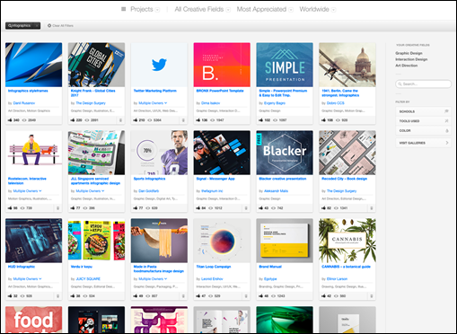 Behance search results