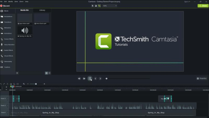 Camtasia 9 Interface
