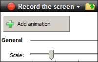 Camtasia Studio: Add Animation button