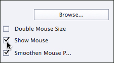 Show mouse