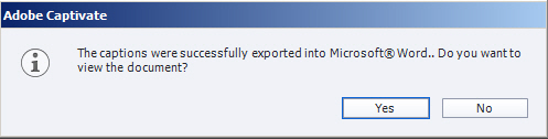 Export finished