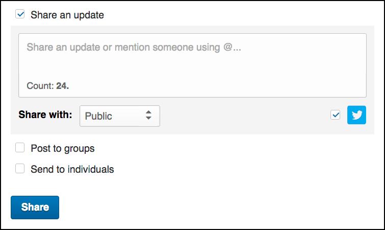 Share dialog box.