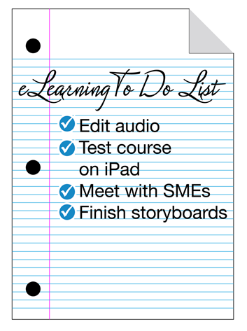 eLearning To Do List