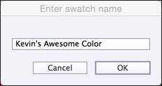 Swatch name