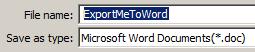 Export Captivate to Word.