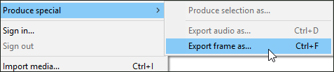 Export frame as