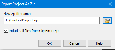 Export project as Zip