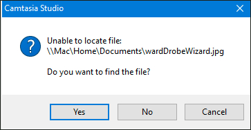 Unable to locate a project asset.