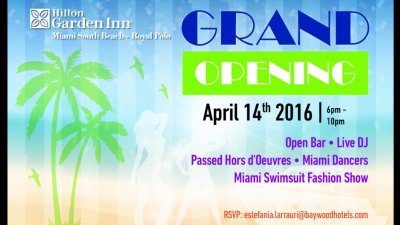 grand opening celebration hilton garden inn miami south beach royal polo - Hilton Garden Inn Miami South Beach