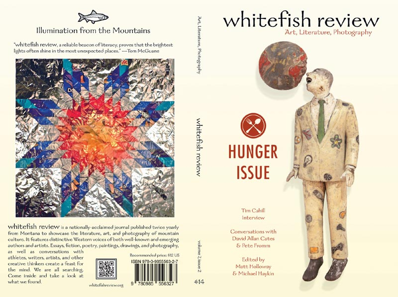Whitefish Review cover and back cover issue 14