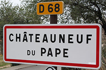 Chateauneuf Road Sign