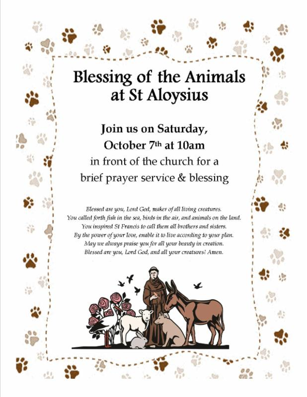 Blessing of the Animals at St  Aloysius Detroit
