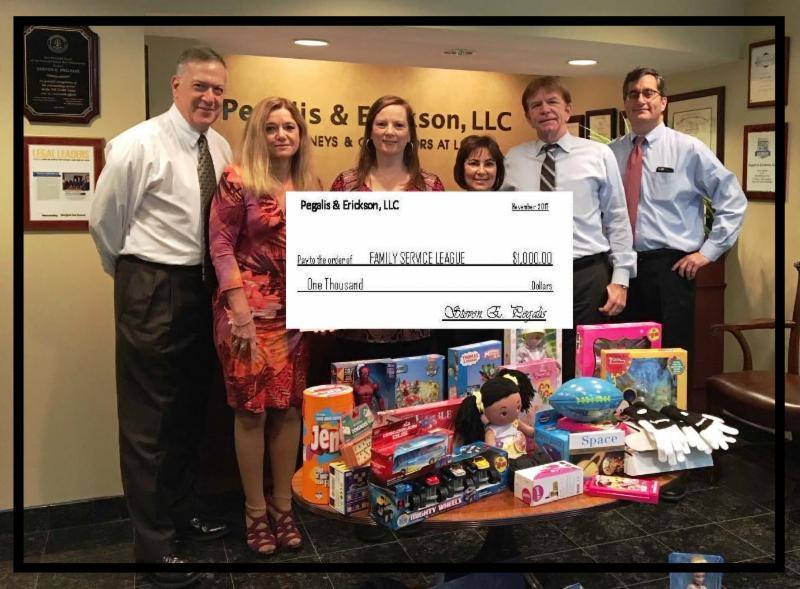 Pegalis & Erickson donates to Family Service League