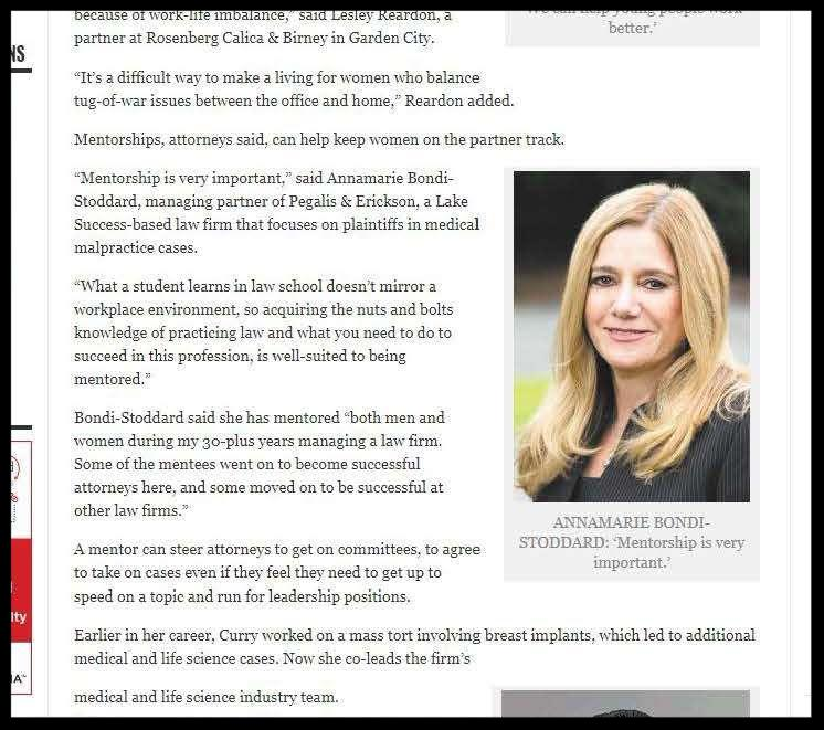 Annamarie Bondi-Stoddard, Managing Partner,was featured in two recent Long Island Business News articles.
