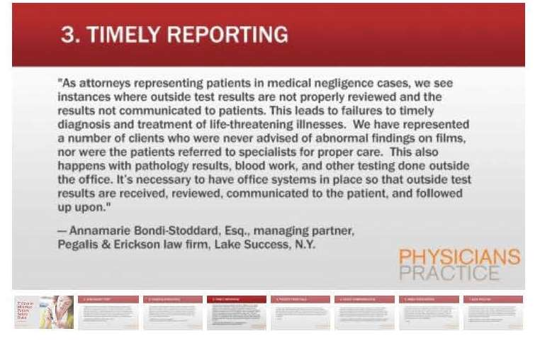 Timely Reporting: 7 ways to reduce patient risk
