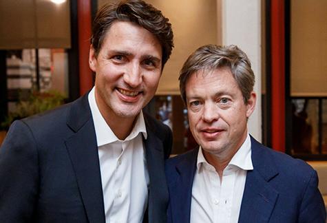Canadian Prime Minister Justin Trudeau with Berggruen Institute Chairman Nicolas Berggruen