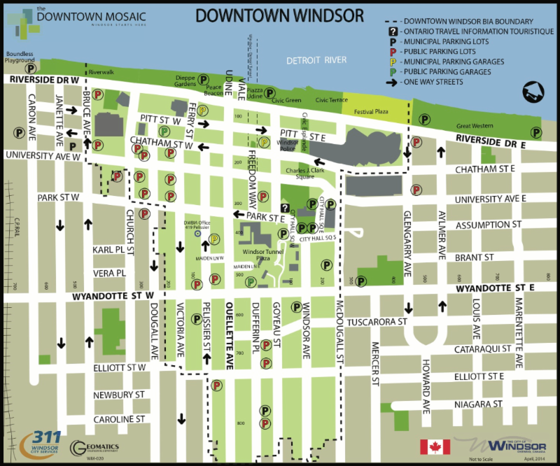 Parking Shop Play Dine Live Invest in Downtown Windsor Ontario Canada