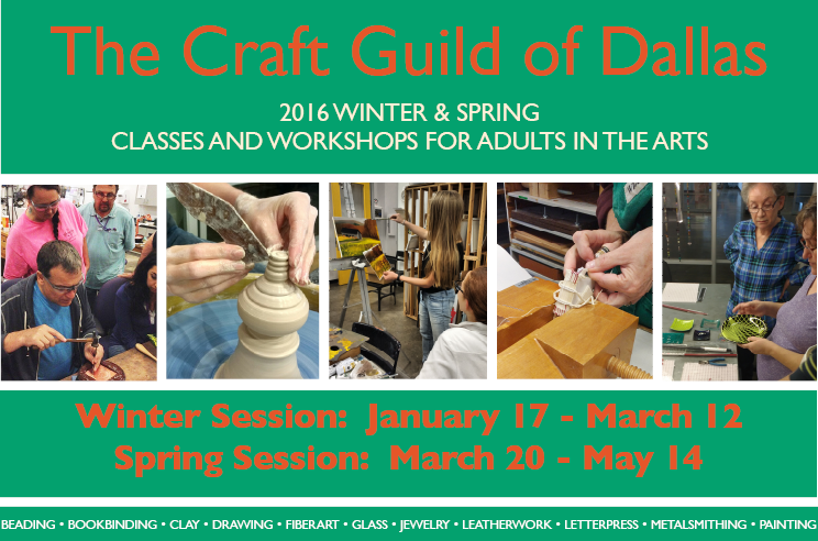 Winter & Spring 2016 Brochure of Classes & Workshops