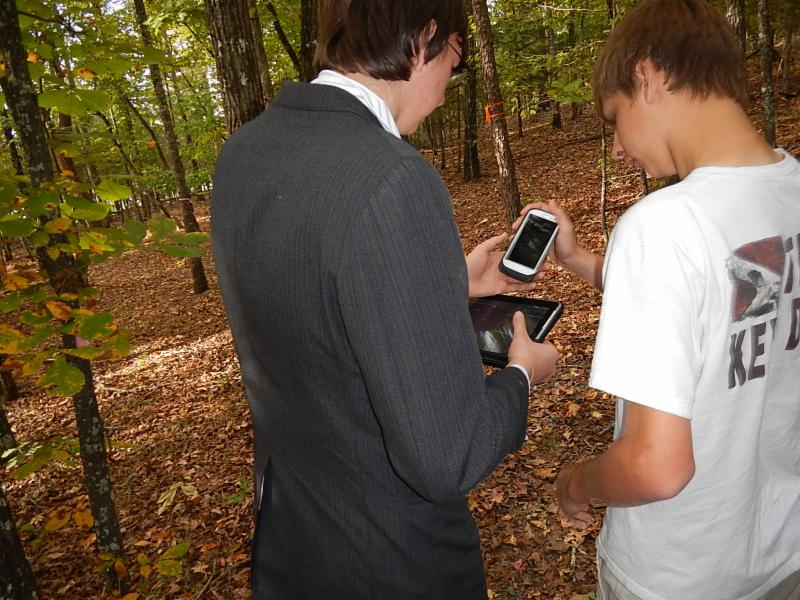 Geocaching at South Fork Nature Center