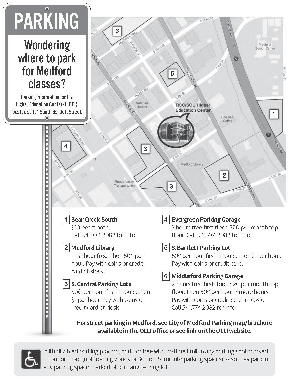 Medford Parking Info